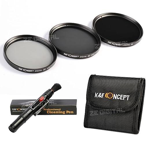 35 opinioni per ND Filtro 62mm, K&F Concept Filtro ND2 4 8 3 Pcs Filtro Neutro Kit + Penna di
