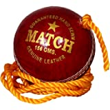 PSE Priya Sports Unisex Red Leather Practice Hanging Cricket Ball