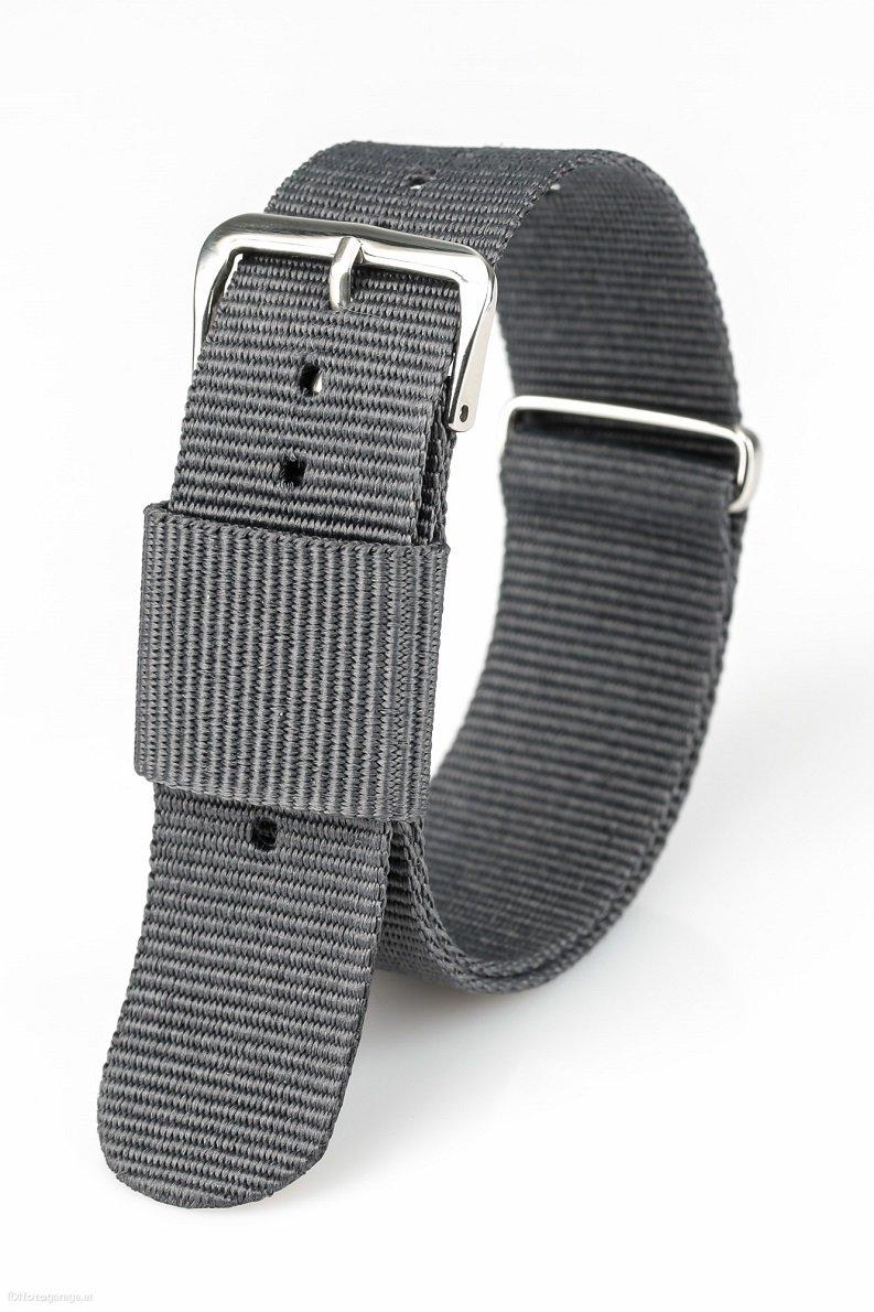 ACE Nylon Premium Uhrenarmband 240x20mm Uhrband mit Edelstahl Dornschließe versch. Farben