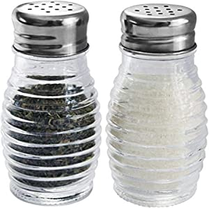 HOME BASICS 2-Piece Beehive Salt and Pepper Set [Kitchen], 2.4 oz./74 mL, Clear
