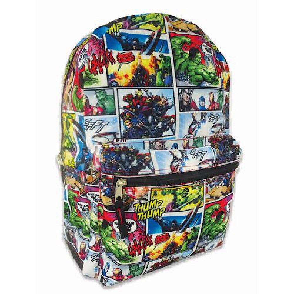 Marvel Avengers Backpack Comic Print Full Size 16