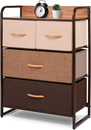 ORAF Vertical 4 Drawer Fabric Dresser Storage Tower
