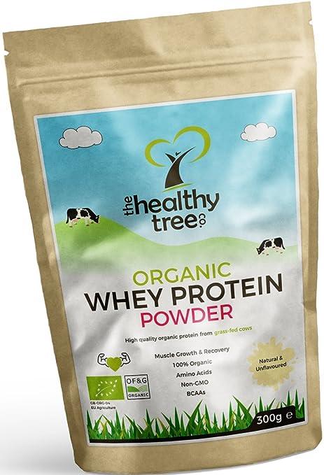 TheHealthyTree Company Proteína de Suero Orgánico en Polvo de 300g (sin sabor) - Alta