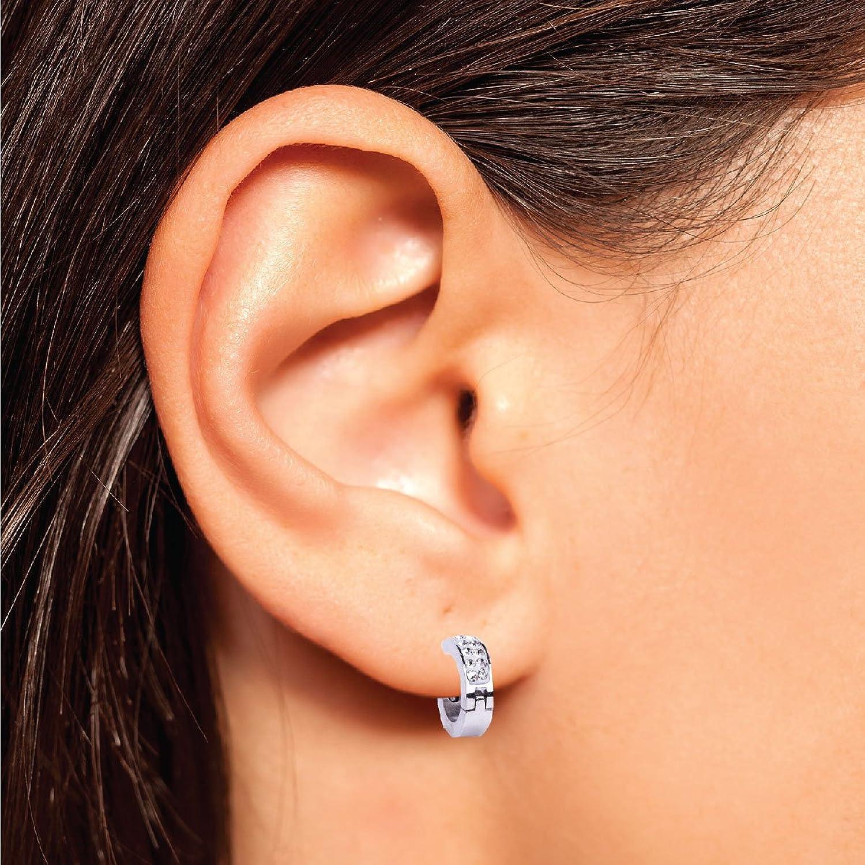 Amazon: Bodyj4you Hoop Earrings Piercings Huggie Earring Cz Inlaid  Value Pack 6pairs: Jewelry