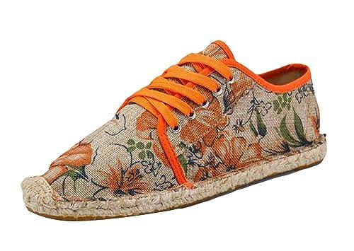 Insun Alpargatas de Cordones Plana para Hombre Lona Vamp Mañana Gloria: Amazon.es: Zapatos y complementos