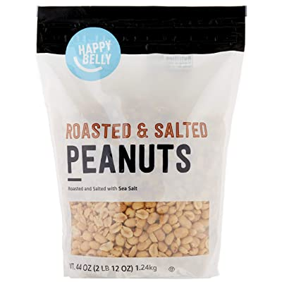 Brand - Happy Belly Roasted and Salted Peanuts, 44 ounce: Grocery & Gourmet Food