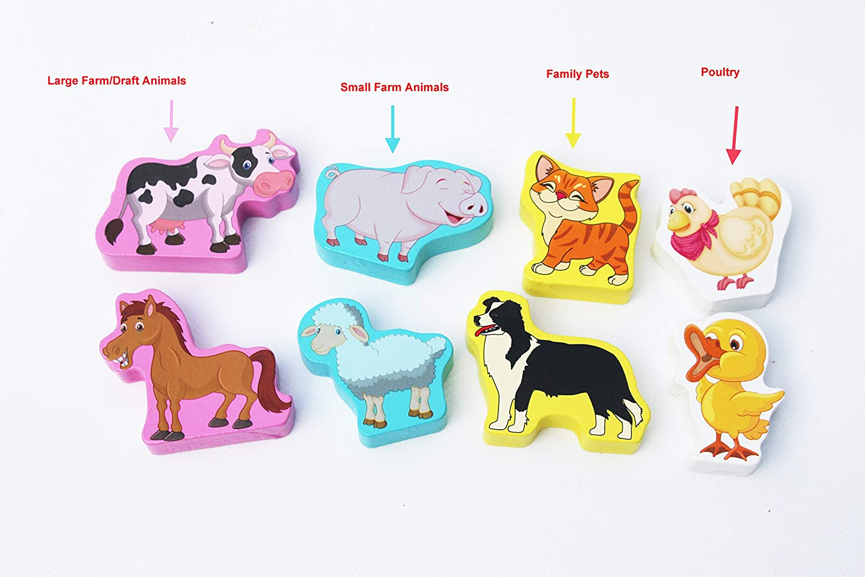 Assortir et Trier Jouet /éducatif pour Enfant Toys of Wood Oxford TOWO Lettres Puzzles en Bois 26 Alphabet Color/é pour Apprendre Les Lettres