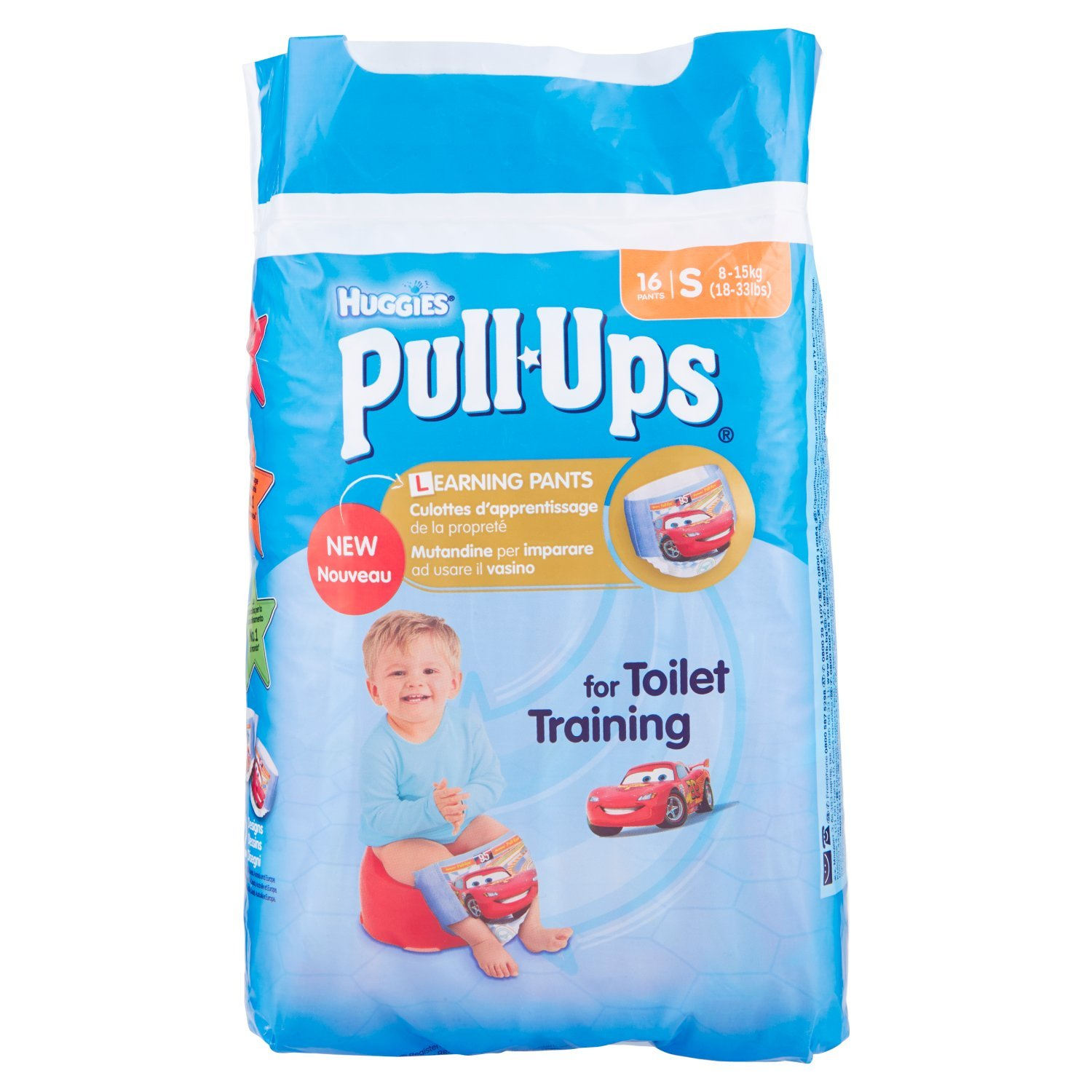 Huggies Pull Ups Pack de 16 culottes d'apprentissage - Taille S (8 – 15 kg) Kimberly 100727725
