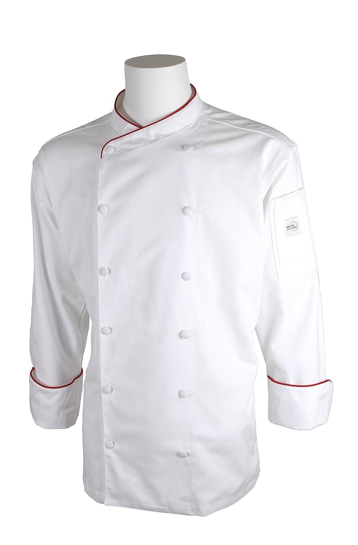 Mercer Culinary M62010WH3X Renaissance Men's Scoop Neck Chef Jacket, 3X-Large, White