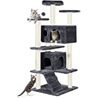 130 cm Multi-Level Cat Tree Stand House Furniture Kittens Activity Tower with Scratching Posts Kitty Pet Play House