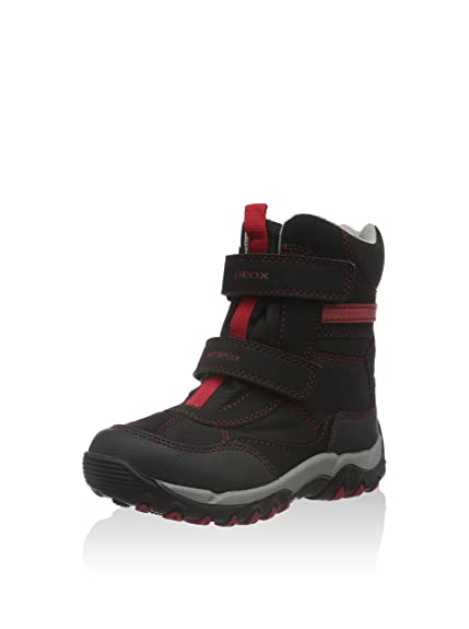 461a819e24250 Geox J Alaska Boy B WPF A Boys  Winter Boots Black Size  13 Child UK ...
