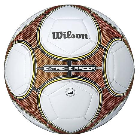 a7e53fea32b36d WILSON Extreme Racer, Pallone da Calcio Unisex-Adulto, Bianco/Arancione, 7