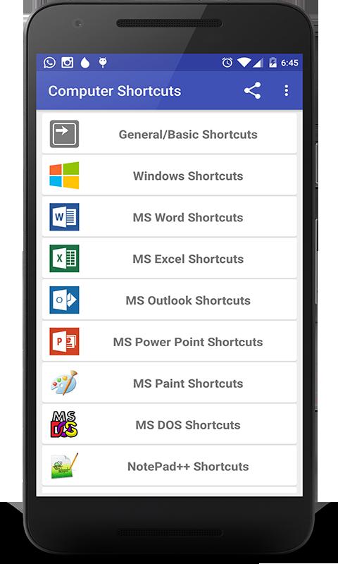 Computer Shortcut Keys Pro: Amazon.com.br: Amazon Appstore