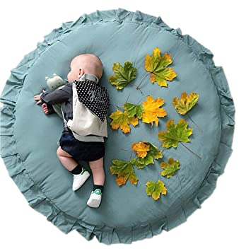 Wynter Floral Roses Round Playmat Baby Nursery Throw Rug Floral Baby Girl Baby Tummy Time Rug