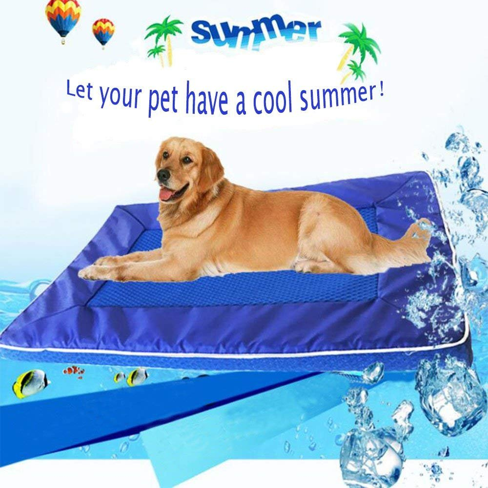 M Cool Pet Mat B&T Summer Pet Cool Mat Easy to Clean Antibacterial Mildew Dog Kennel Pet Mattress Using Mesh Technology for Dogs Cats Non-Toxic Comfortable Kennel Cooling Pad (M)