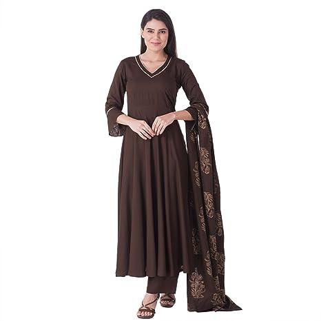 KHUSHAL Women's Rayon Salwar Suit Set Women's Salwar Suits at amazon