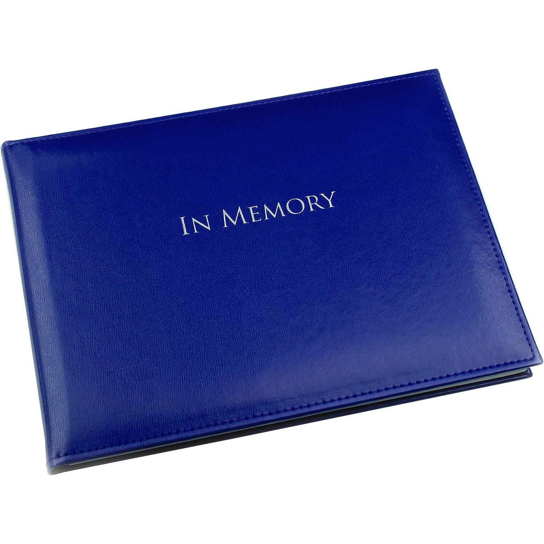 Esposti in Memory Book - Condolence Book - Funeral Guest Book - Blue