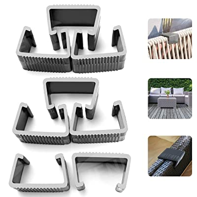 HENMI Patio Furniture Clips, Outdoor Wicker Furniture Rattan Chair Sofa Fasteners Clip Sectional Connector 8 PCS (Large): Kitchen & Dining
