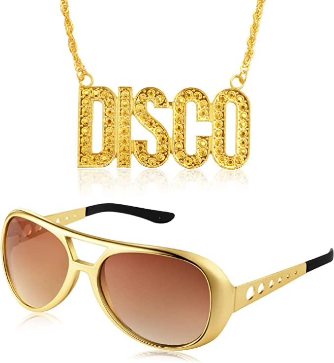 Amazon.com: Juego de disfraz de discoteca de los años 50 y ...