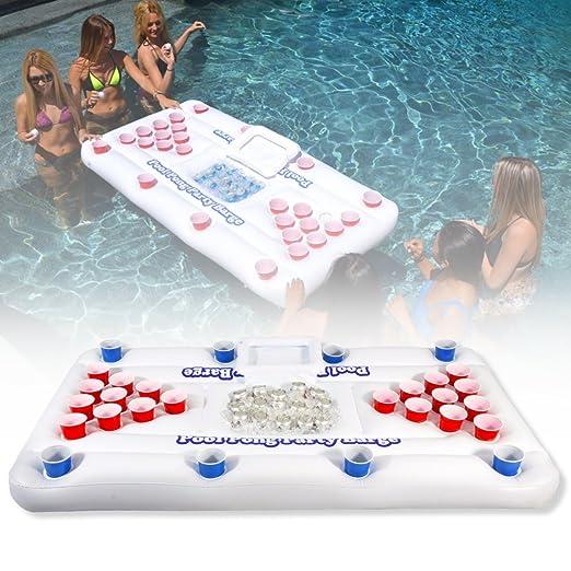 Inflable cerveza Pong mesa de billar, essort Cooler fiesta piscina ...
