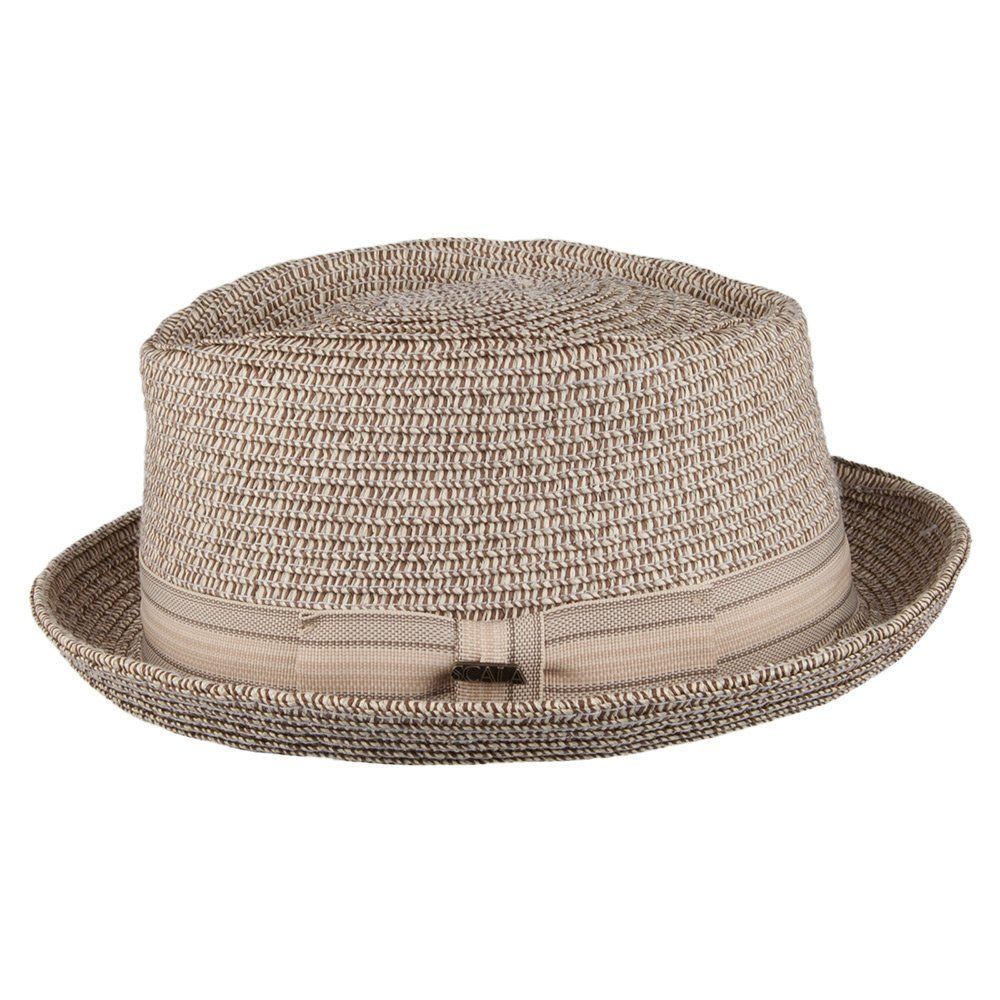 487fc29df Scala Hats Diamond Crown Pork Pie Hat - Brown MEDIUM: Amazon.co.uk ...