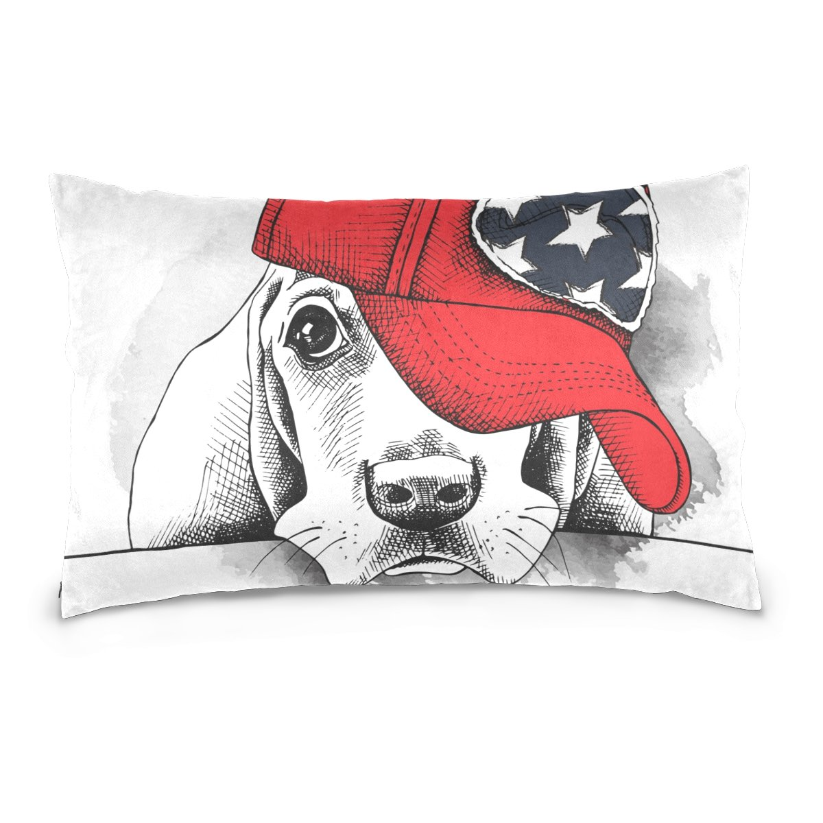 Pillow Covers Pillow Protectors Bed Bug Dust Mite Resistant Standard Pillow Cases Cotton Sateen Allergy Proof Soft Quality Covers with Hat Christmas Cute Animal Dog for Bedding