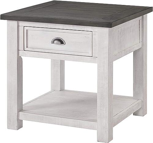 Martin Svensson Home Monterey Solid Wood End Table White