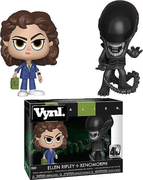 Funko Alien Pack 2 Figuras Vynl Ellen Ripley & Xenomorph, Color Mulitcolor, Talla única (37755)