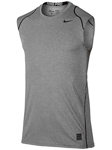 639d36ad1 Amazon.com: Nike Pro Men's Sleeveless Training Shirt, Carbon  Heather/Black/Black, Small: Sports & Outdoors