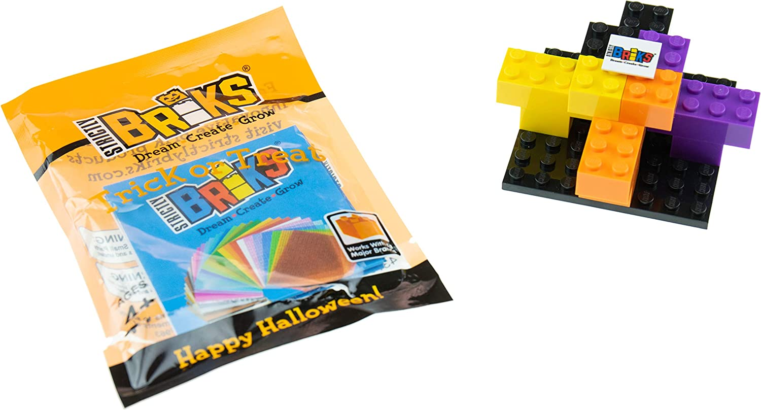 Halloween Building Bricks Party Favors Handout a Healthy Alternative to Candy Strictly Briks 10 Goodie Bag Fillers Trick or Treat Bags with Toys