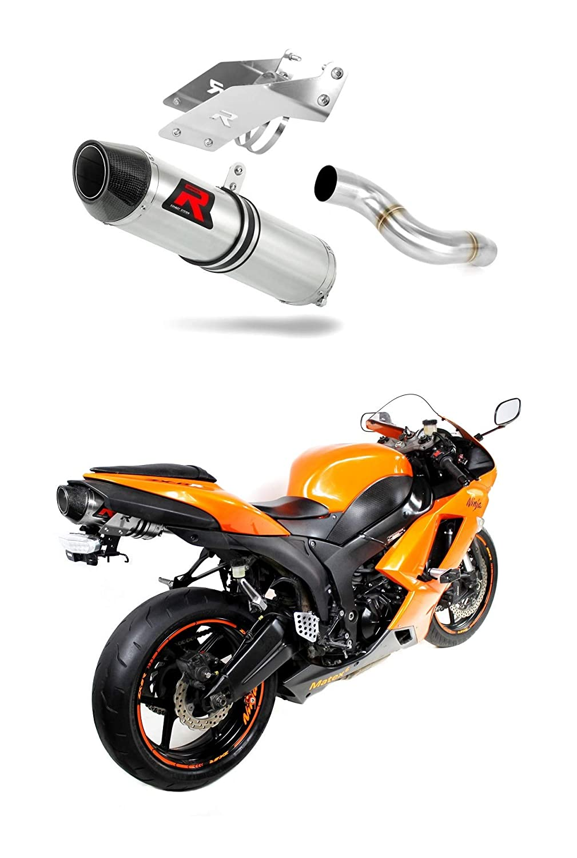 ZX6R 636 Escape Moto Deportivo HP2 Carbon Silenciador ...