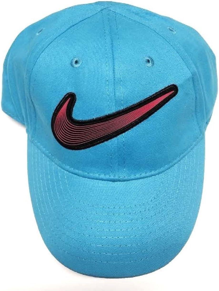 Nike - Gorra de béisbol para niña, Talla 2/4T C, Color Azul ...