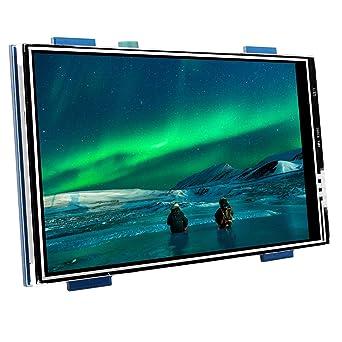 Kuman Raspberry Pi 3 Caja Generation, 3.5 Pulgadas Pantalla Táctil LCD Monitor HDMI Apoya Todo