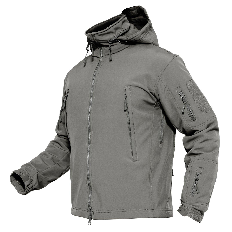 MAGCOMSEN Tactical Stalker Soft Shell Waterproof & Windproof Fleece Hooded Jacket