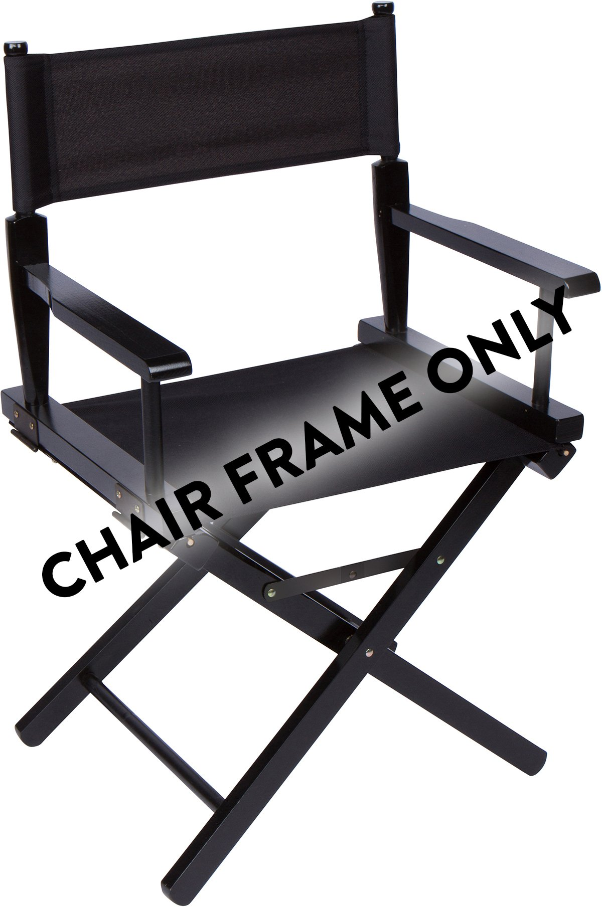 24'' Wood Frame Director Chair Body by Trademark Innovations (Black Wood) by Trademark Innovations