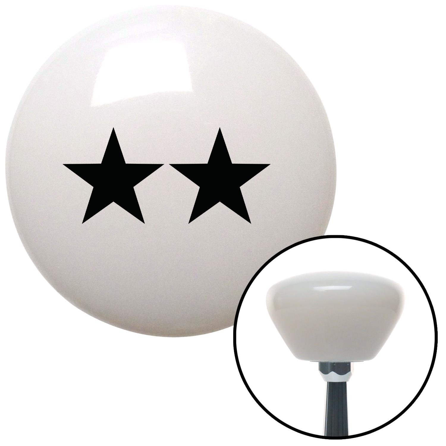 Black Officer 08 - Major General American Shifter 154409 White Retro Shift Knob with M16 x 1.5 Insert