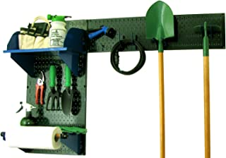 product image for Wall Control Pegboard Garden Supplies Storage and Organization Garden Tool Organizer Kit with Green Pegboard and Blue Accessories
