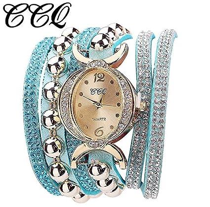 Reloj de pulsera para mujeres, de moda, de cuarzo, con diamantes de imitación