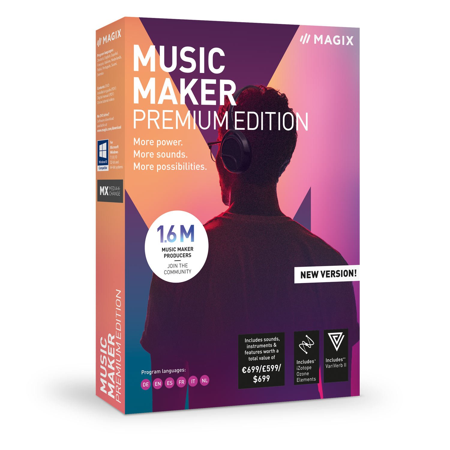 MAGIX Music Maker - 2019 Premium Edition - MORE Power. MORE Loops. MORE Creative Possibilities by MAGIX