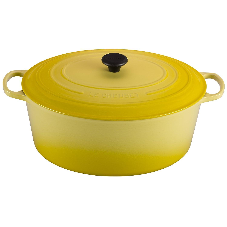 Le Creuset Signature Enameled Cast-Iron Oval French (Dutch) Oven, 15-1/2-Quart, Soleil