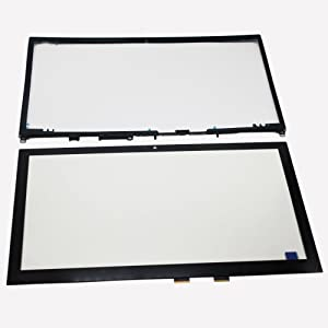 LCDOLED 15.6 inch Laptop Touch Screen Digitizer + Bezel for Toshiba Satellite P55W-C5316 P55W-C5317 P55W-C5314 P55W-C5200X P55W-C5204 P55W-C Series