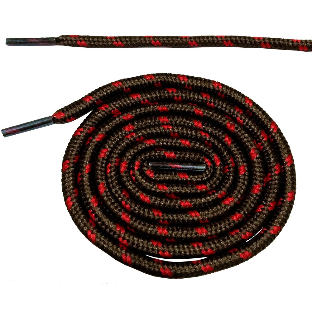 ラウンド靴紐Shoe Laces f。マーティンブーツスポーツシューズ10色6長新しい 140cm B073SXJNK6  7. brown with red 140cm
