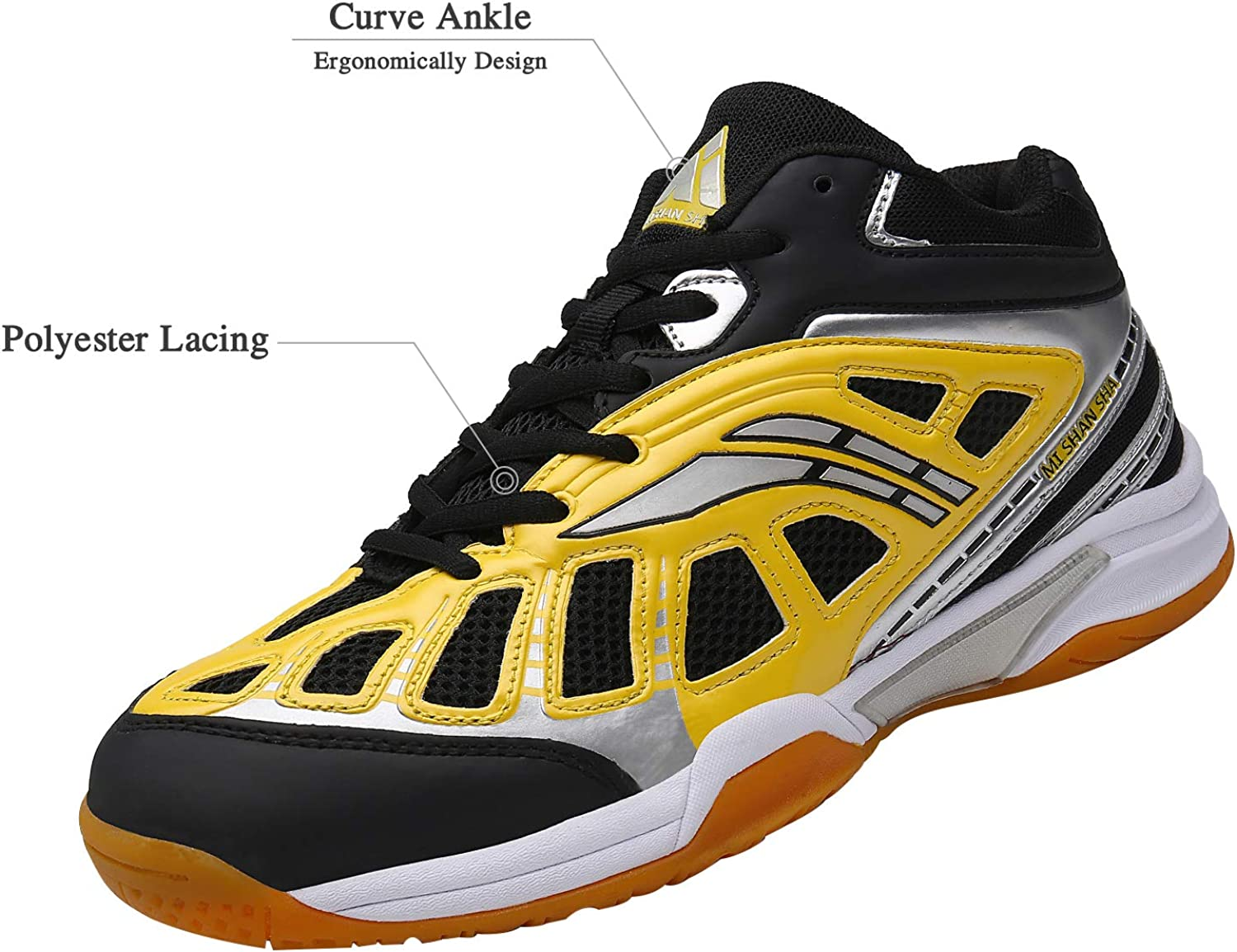 Mishansha Mens Court Squash Badminton Tennis Shoes Indoor Outdoor Non Slip
