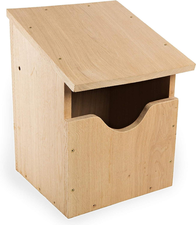 NEST TO NEST Casita De Pajaros Casa Búho/Falcón | Caja Nido para Pájaros De Madera De Roble I Nidos para Pajaros: Amazon.es: Jardín