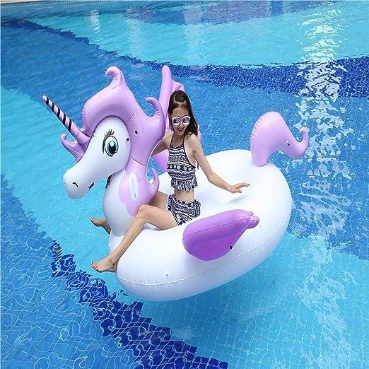 Nadar Fiesta Juguetes Balsa Inflable Verano Unicornio Natación ...