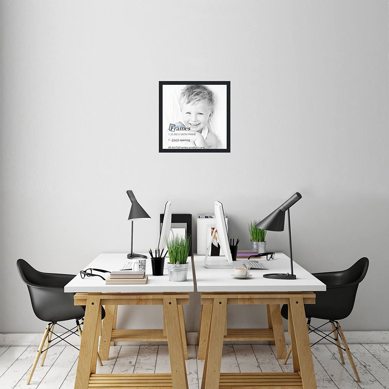 Amazon.com - ArtToFrames 22x22 inch Satin Black Picture Frame ...