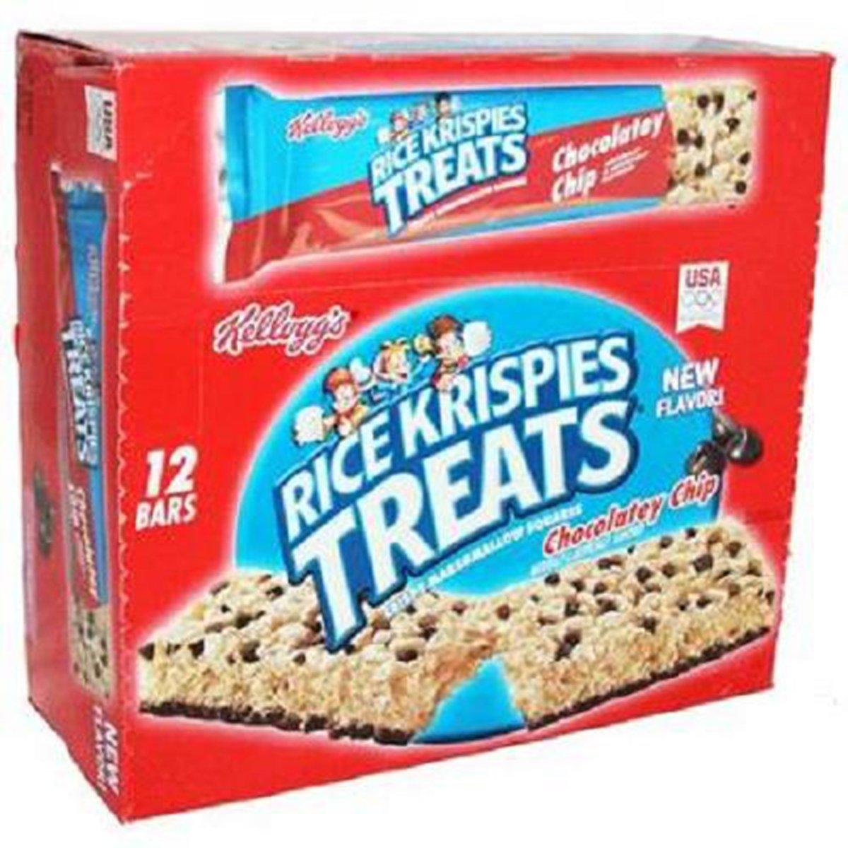 Kelloggs Rice Krispies Treats Chocolatey Chip Big Bar, 12 Count (GRANOLA/CEREAL/OAT/BRKFAST BAR)
