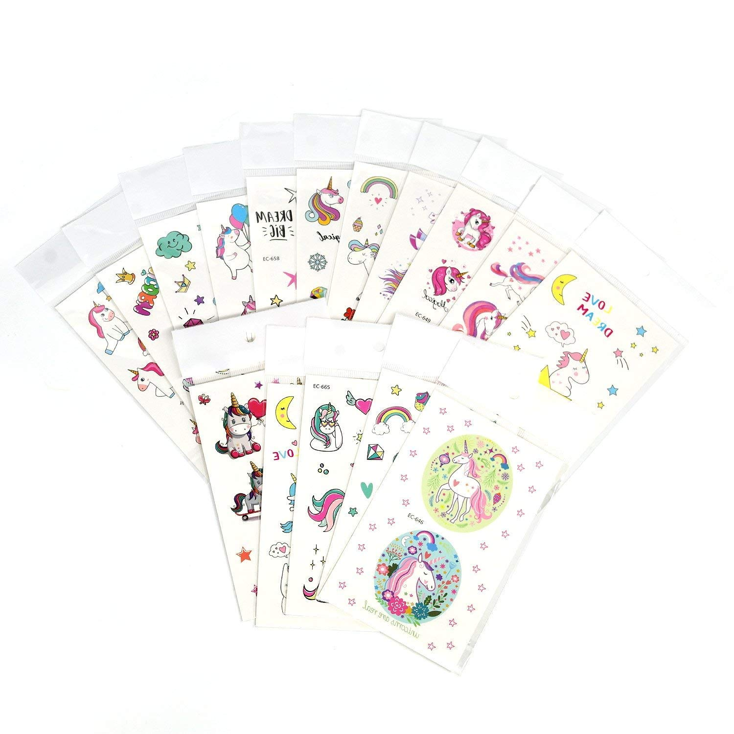 SouthStar Unicorn Party Favours, 40pcs Unicorn Set, Unicorn Bracelet, Unicorn Ring, Unicorn Key Chain, Unicorn Temporary Tattoos for Girls Children Birthday Party Favors Party Supplies