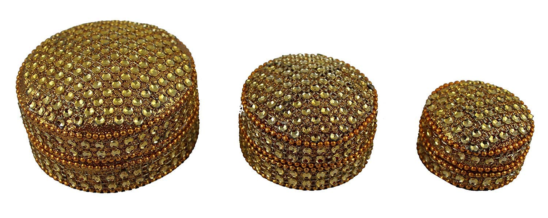 Creativegifts Sindoor Box Stone /& Moti Beaded Jarkan Work Look Traditional