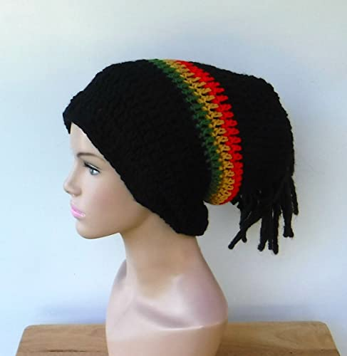 Amazon.com  Handmade 2 in 1 Dread tube or slouchy hat ccf6e613bd7